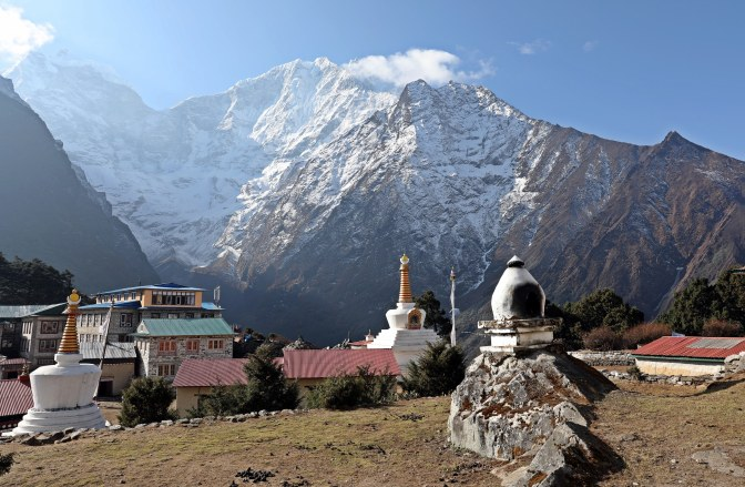 The mountain village of Tengboche