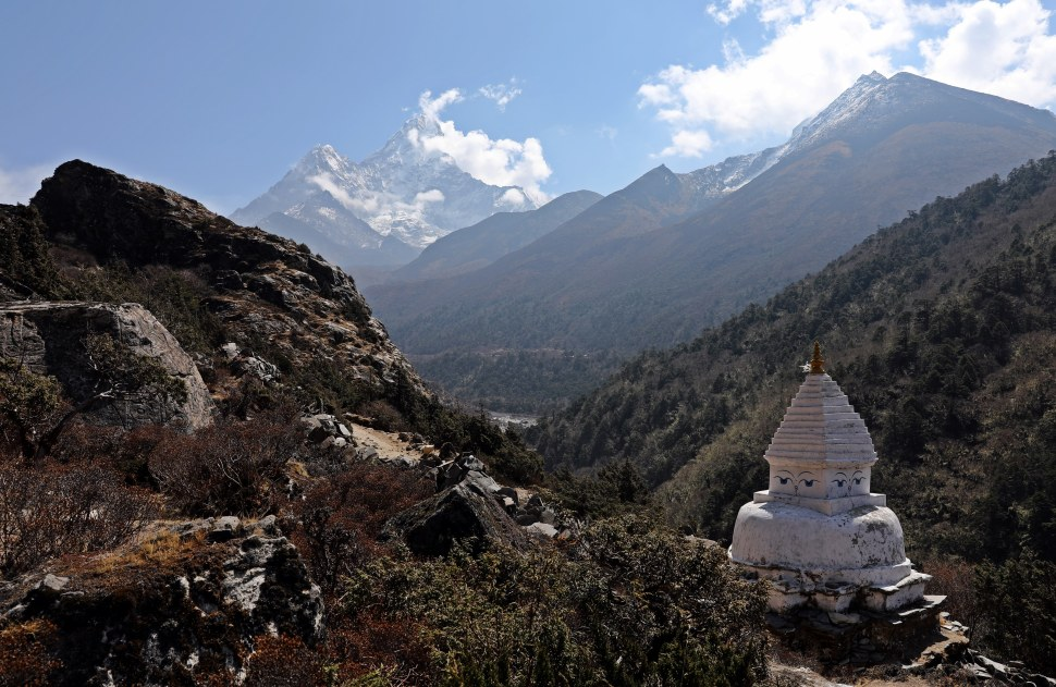A Chorten and Mt. Amadablam
