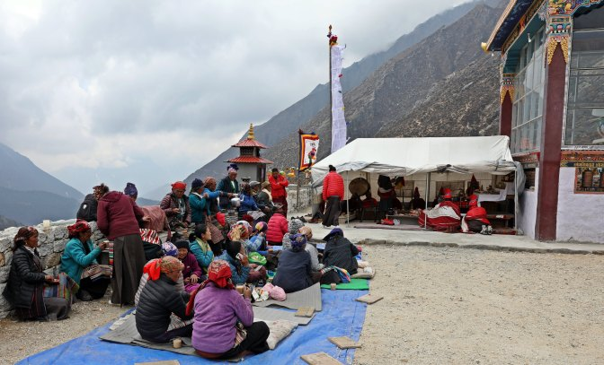 Village Puja (ceremony) in Pangboche