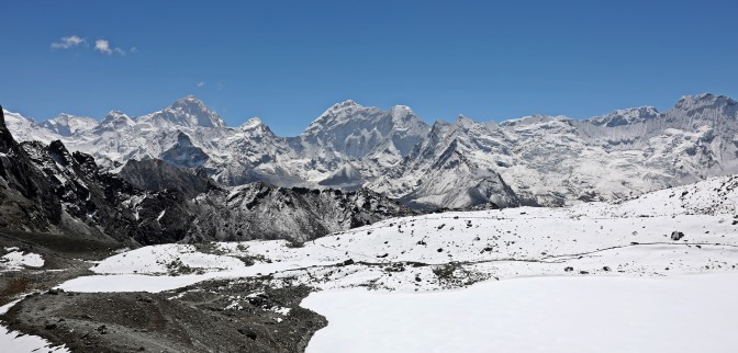 View from Kongma La (Pass) of Makalu Range