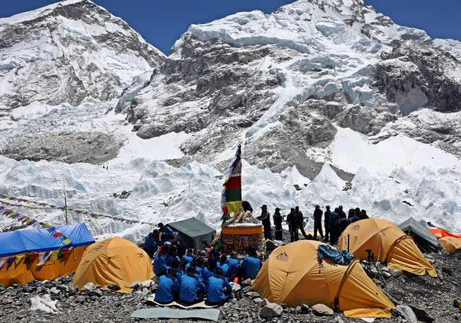 Puja at Everest Base Camp