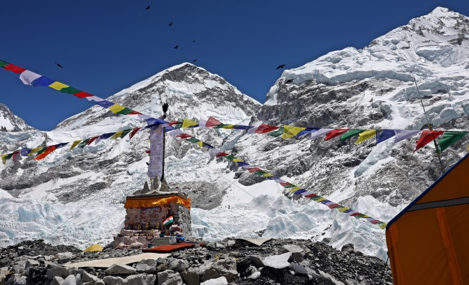 Stupa for Puja at Everest Base Camp