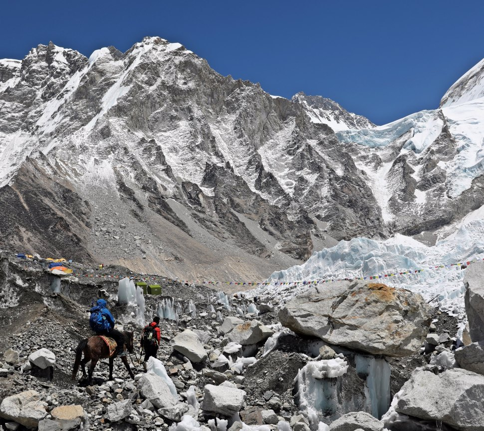 There's more than one way to get to Everest Base Camp, but[ that poor horse!