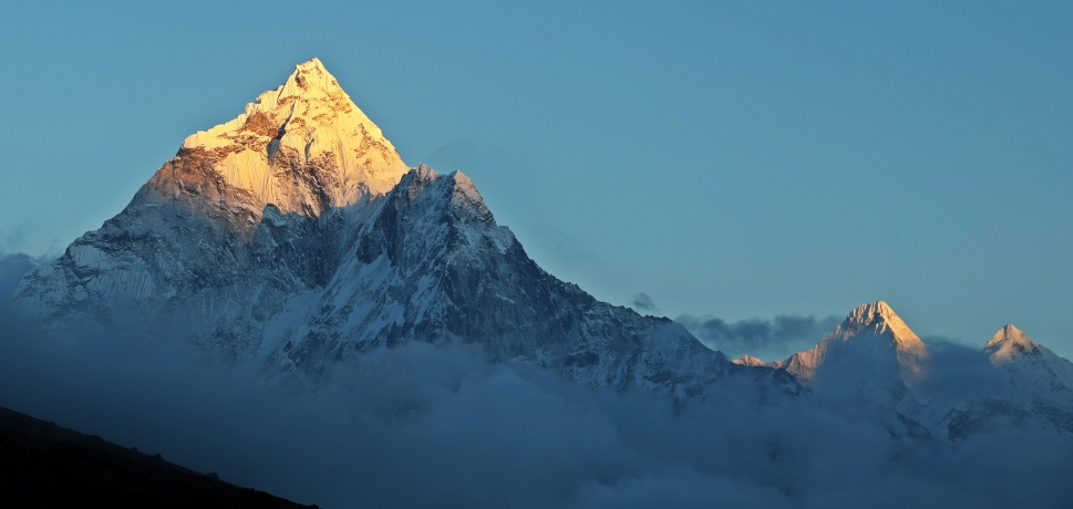 Ama Dablam at sunset