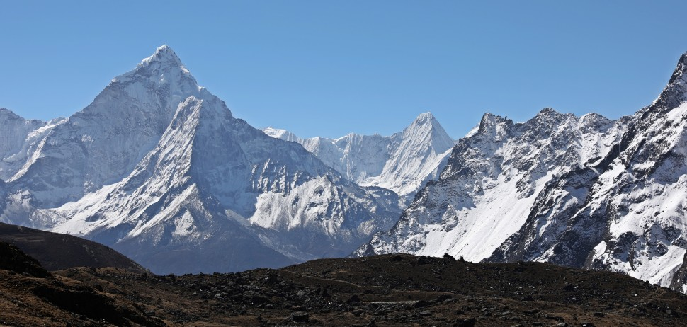 Ama Dablam from below Cho La (Pass)