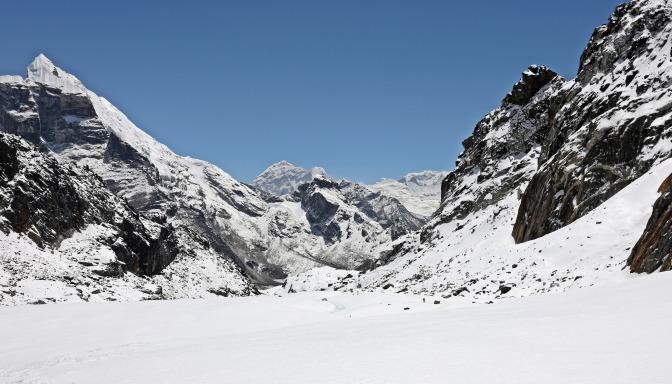 Below Cho La (Pass)