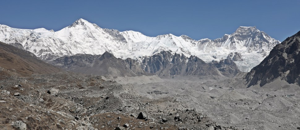 Cho Oyu from Ngozumbo Moraine