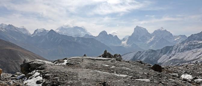 View of Everest from below Rinja La (Pass)
