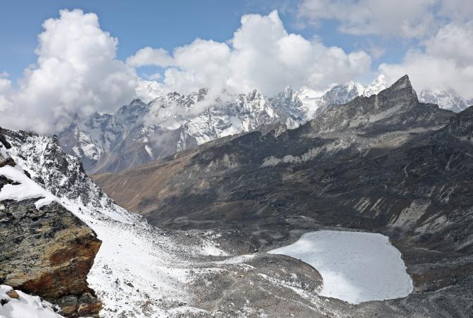View north of Rinja La (Pass)