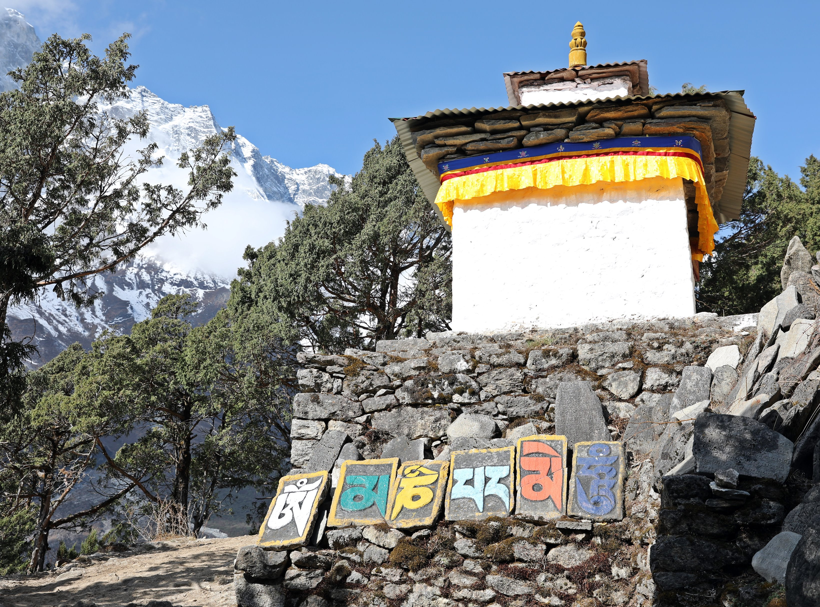 Chorten and Mani Stones above Thame