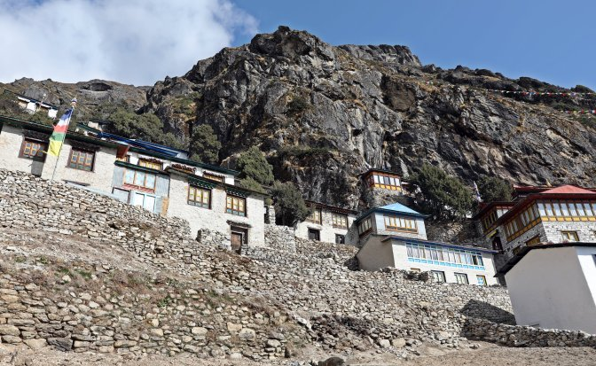 Thame Gompa and surrounding houses