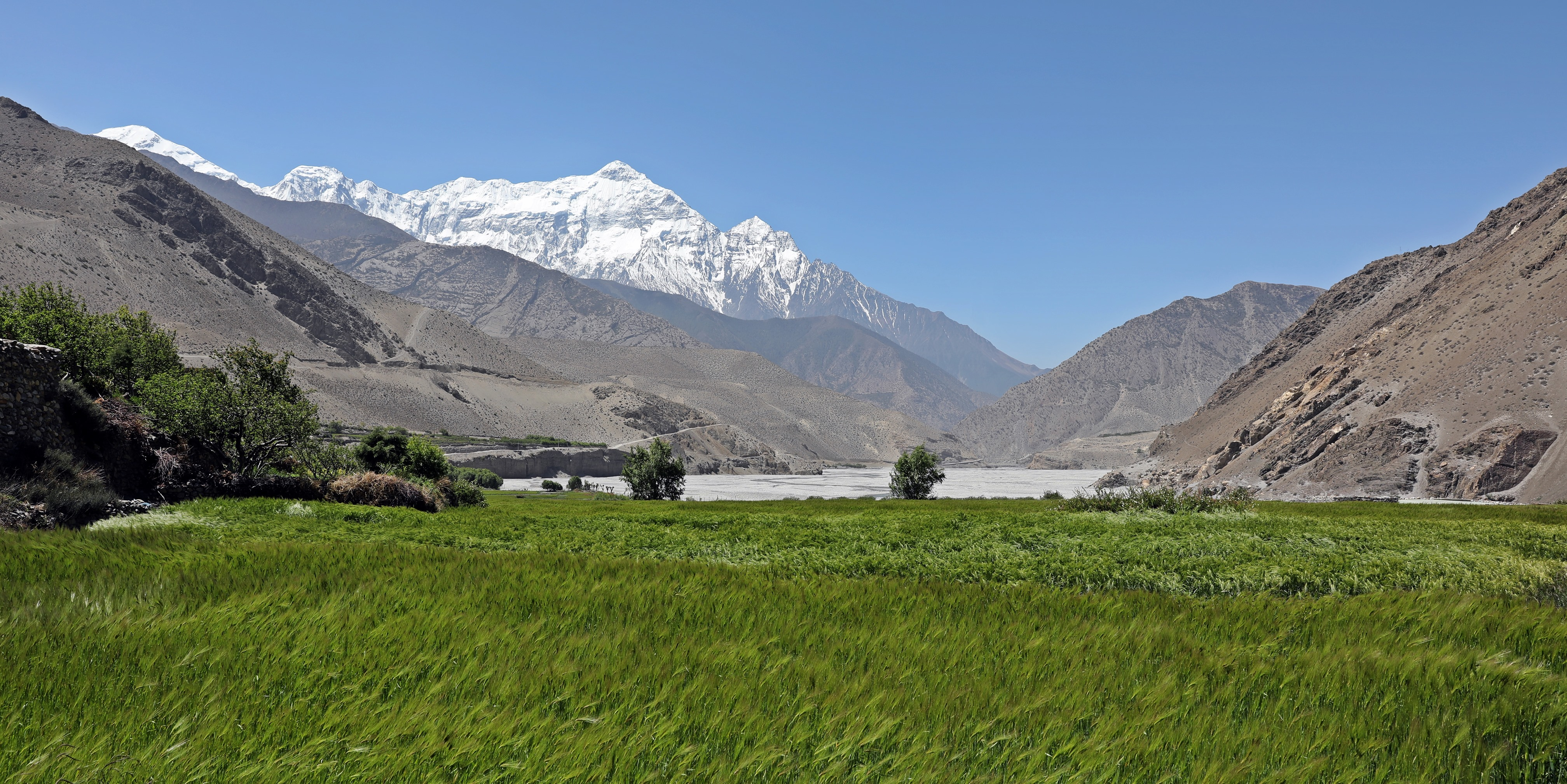 View of Annapurna Range from Upper Mustang trail