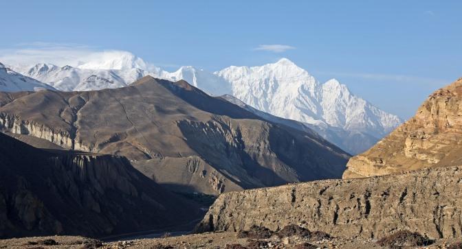 The Dhaulagiri Range seen from the Upper Mustang trek