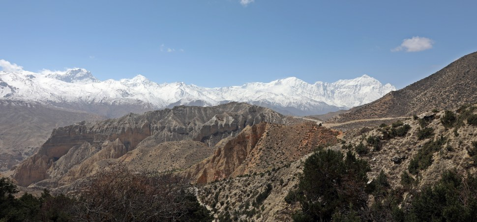 The Dhaulagiri Range seen from the Upper Mustang trek
