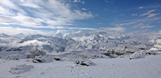 Annapurna Range after a fresh snowfall