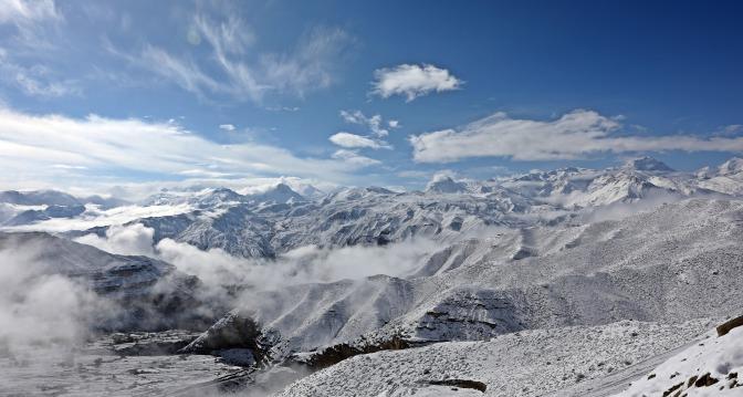 Annapurna Range after snowfall