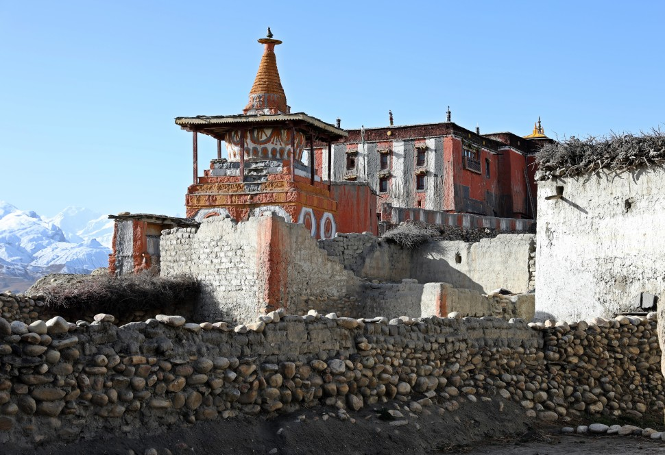 Stupa and Gumba in Charang