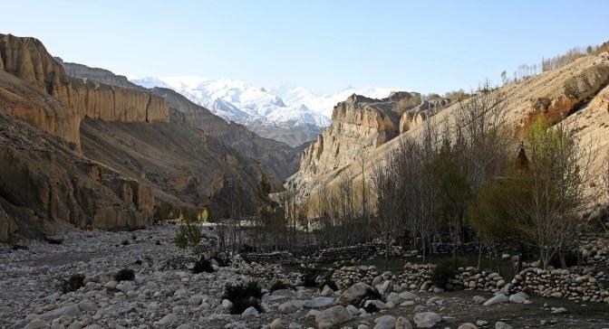 River valley on the Upper Mustang trek