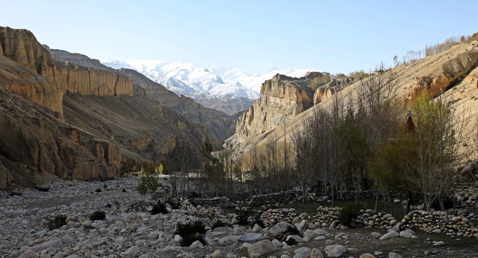 River valley on the Upper Mustang trek