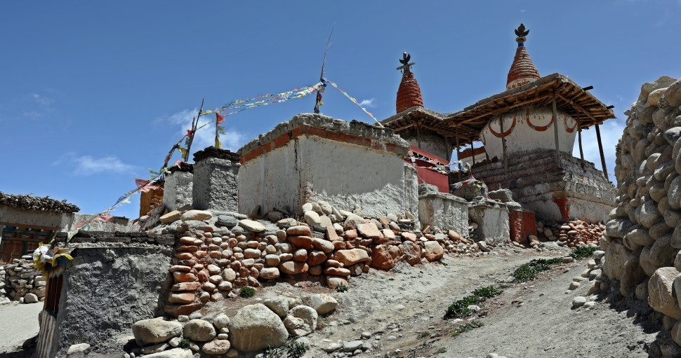 Chortens in Lo Manthang