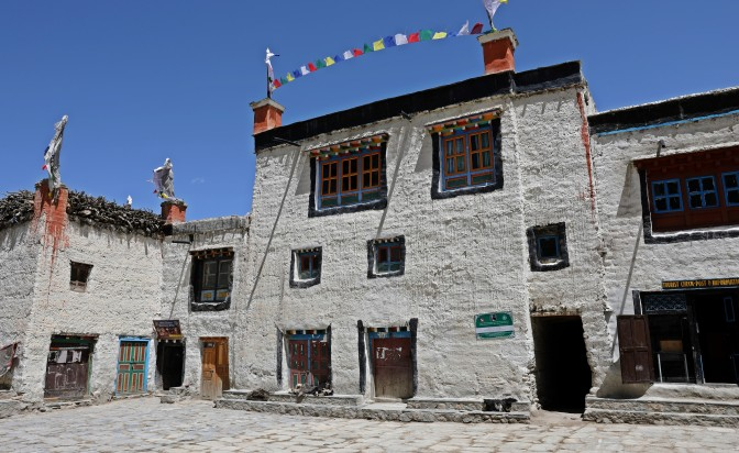 Central plaza in Lo Manthang