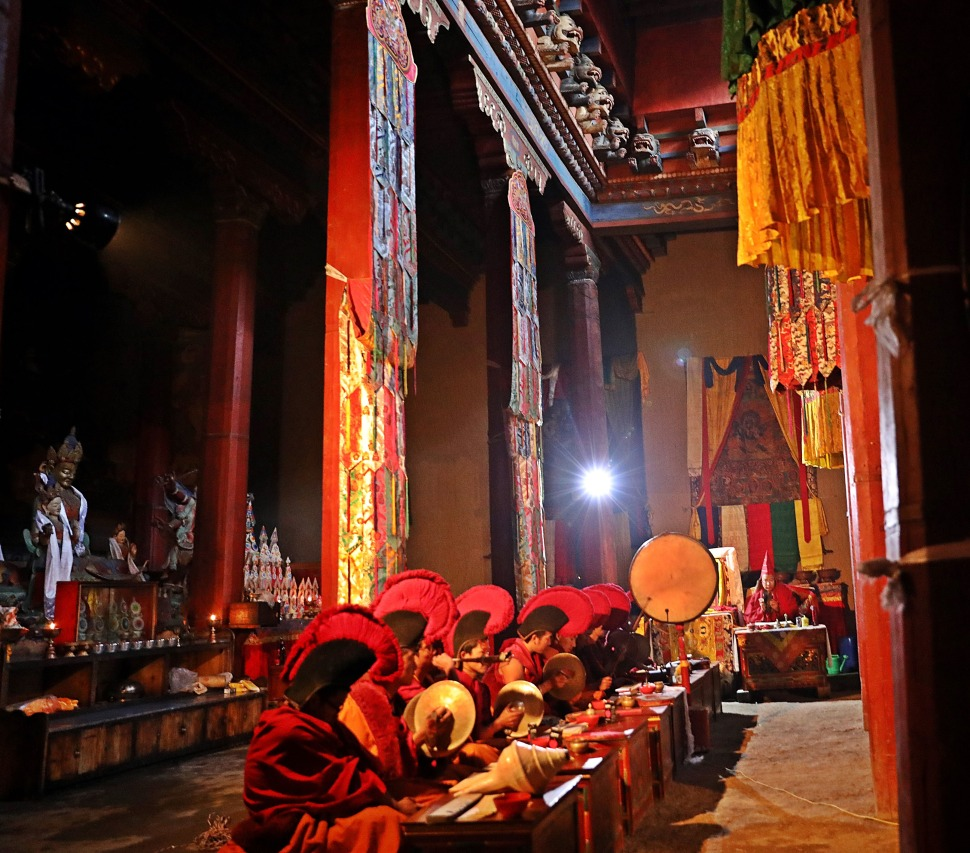 A Puja inside Thupchen Gumba