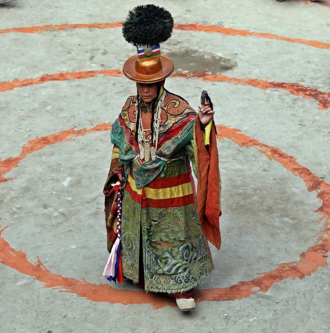 Lead dancer at the Tiji Festival