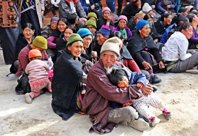 Locals attending the Tiji Festival