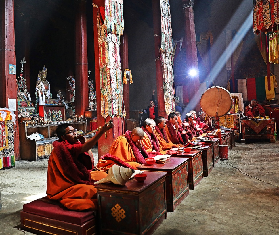 A Puja Inside Tupchen Gumba