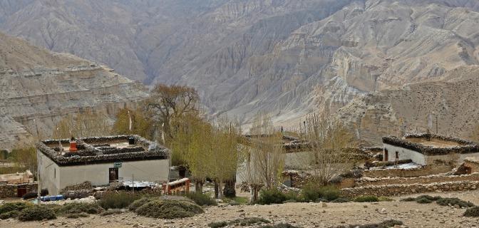 Village on the Upper Mustang trek