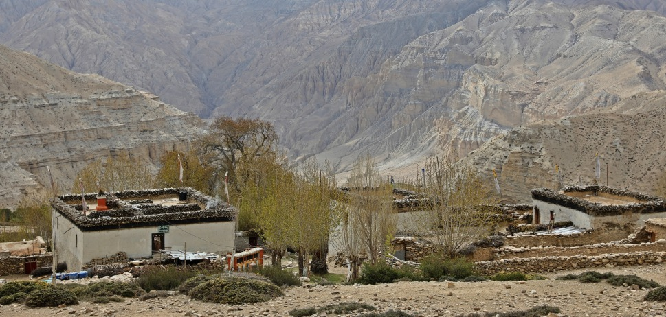 Village on the Upper Mustang trek