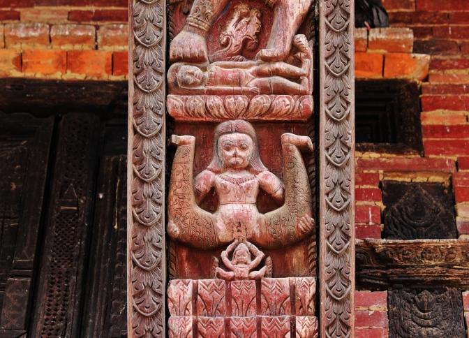 Erotic carvings on Pashupatinath temple, Bhaktapur