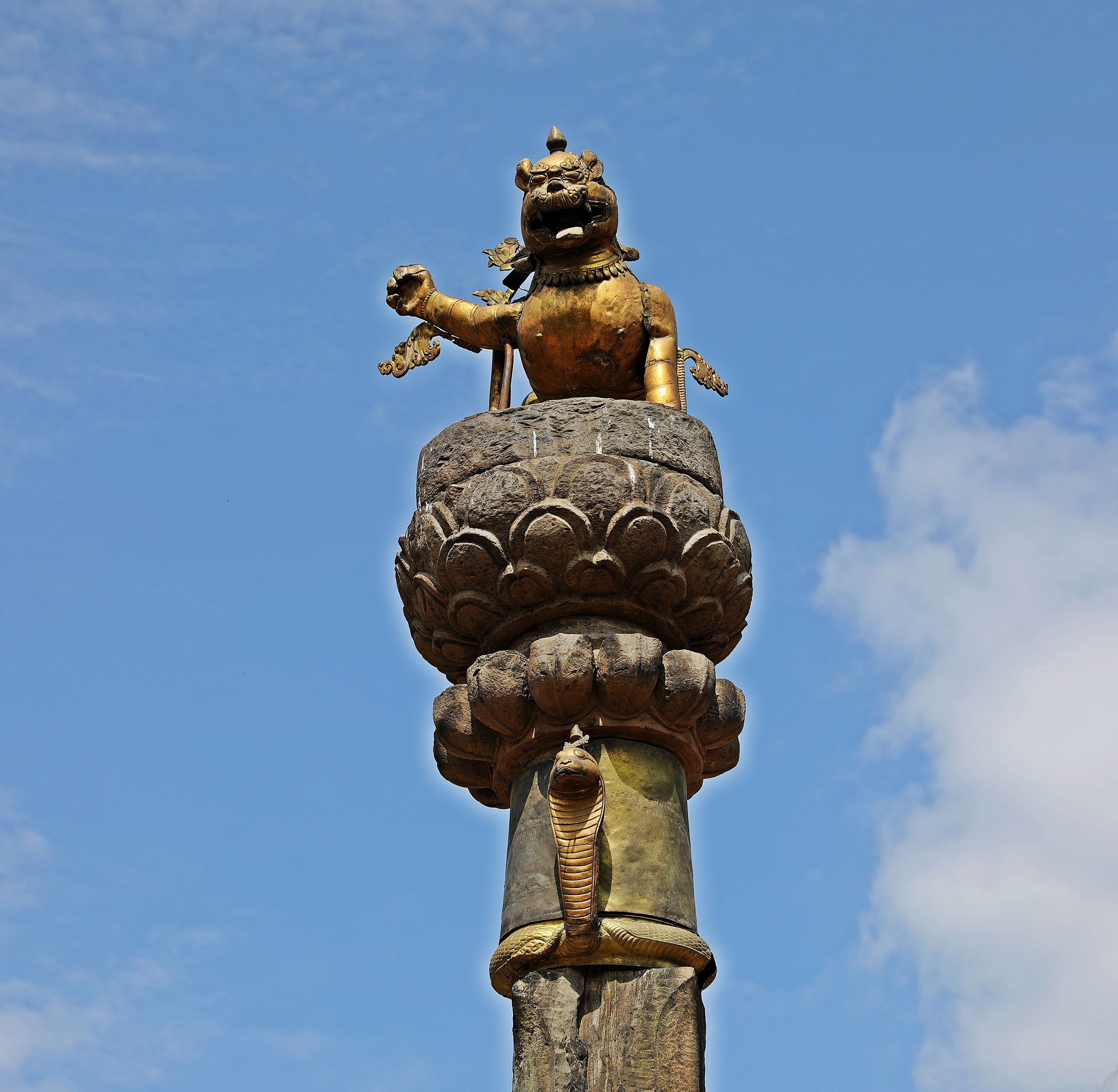 Column in Durbar Square Bhaktapur