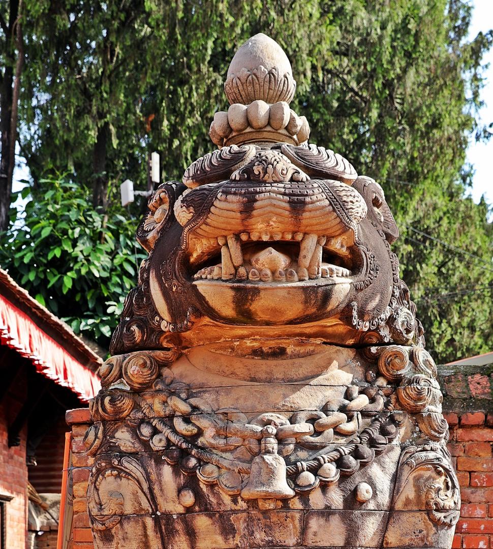 Lion statue, Bhaktapur