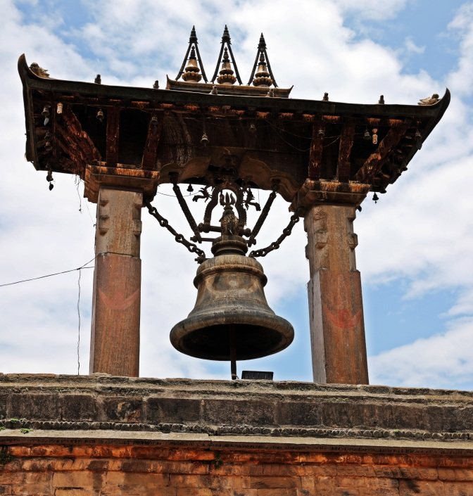Taleju bell,that was in front of a temple destroyed in the earthquake, Patan