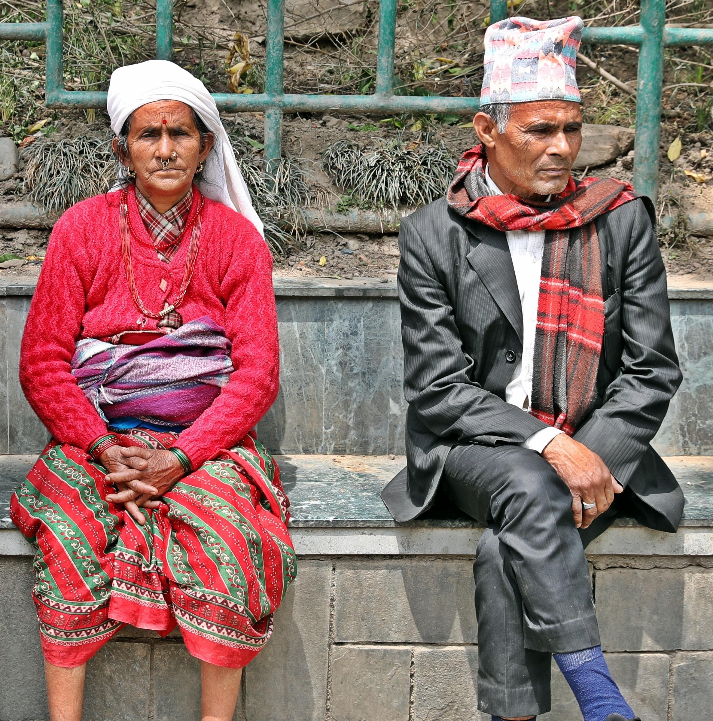 Nepali couple, Swayambhunath, Kathmandu