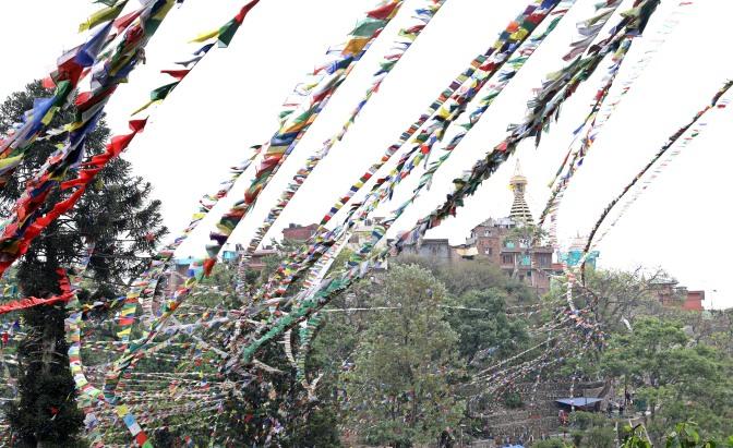 Prayer flags at Swayambhunath, Kathmandu
