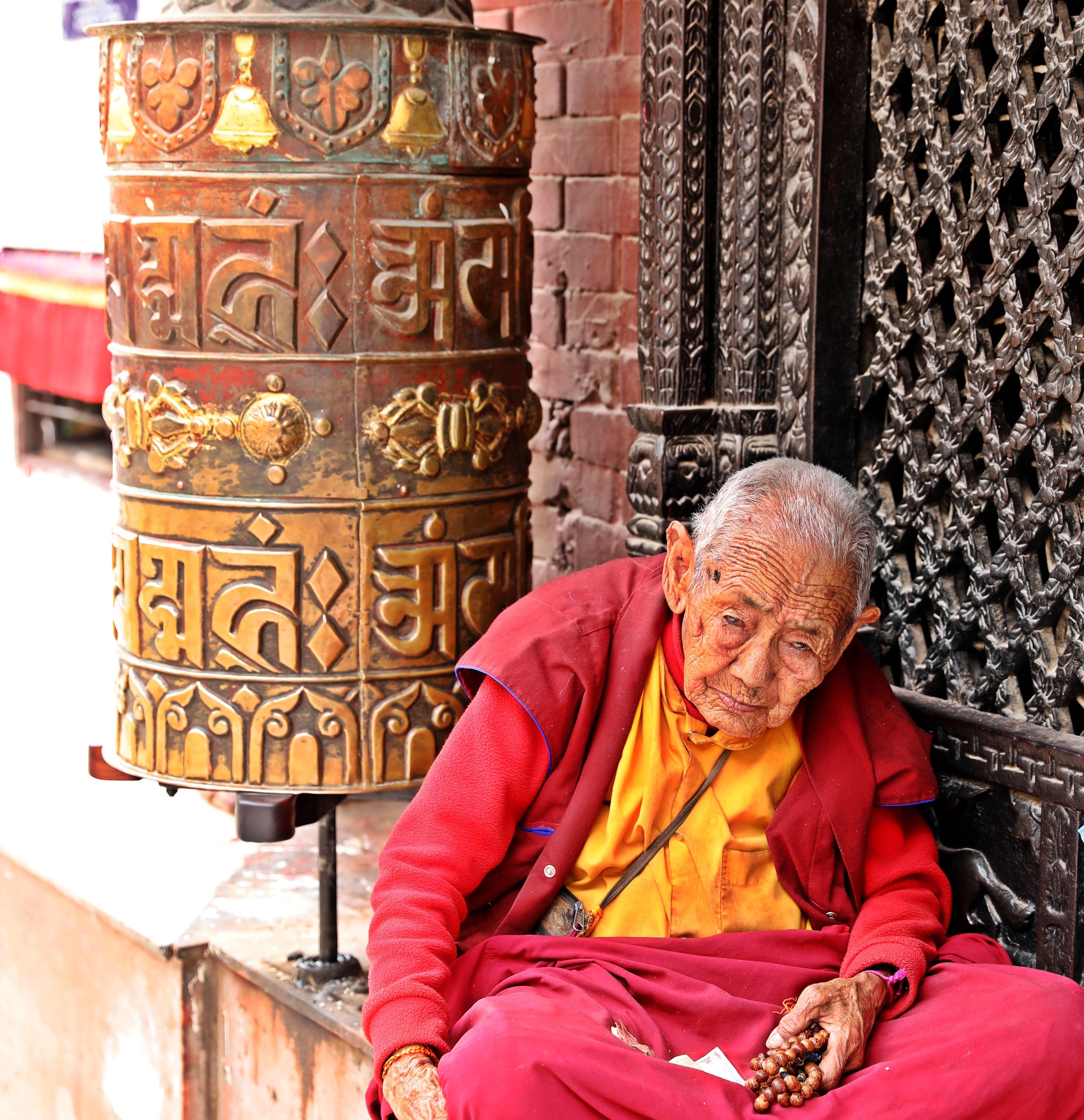 Lama at Boudhanath, Kathmandu
