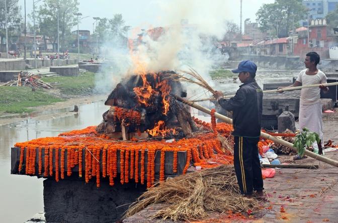 Cremation at Pashupatinath, Kathmandu