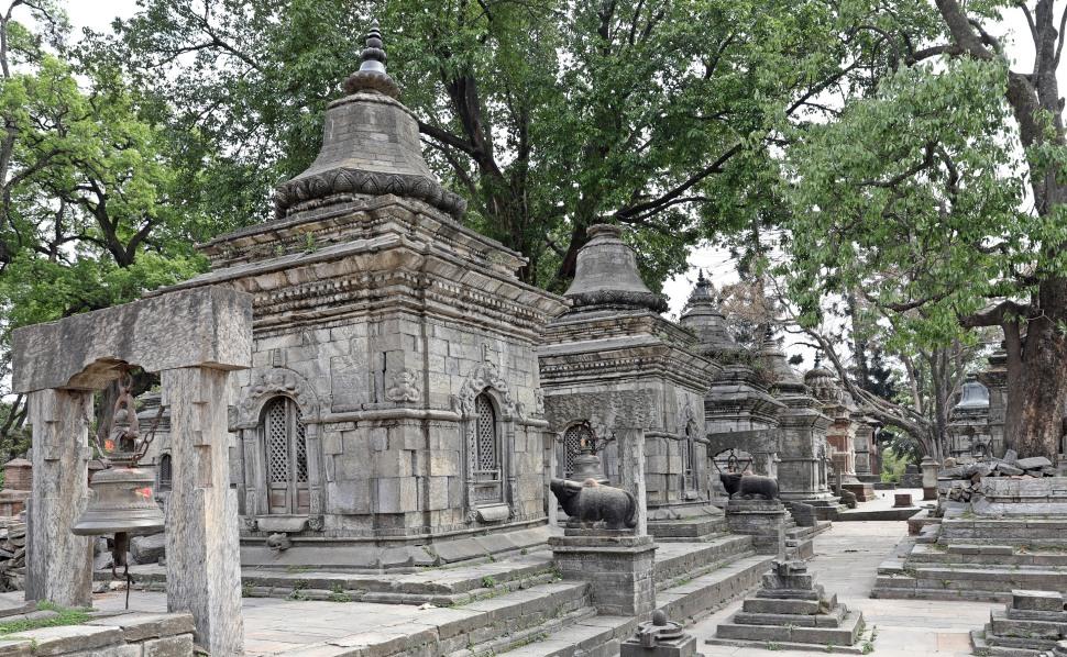 Shrines at Pashupatinath, Kathmandu