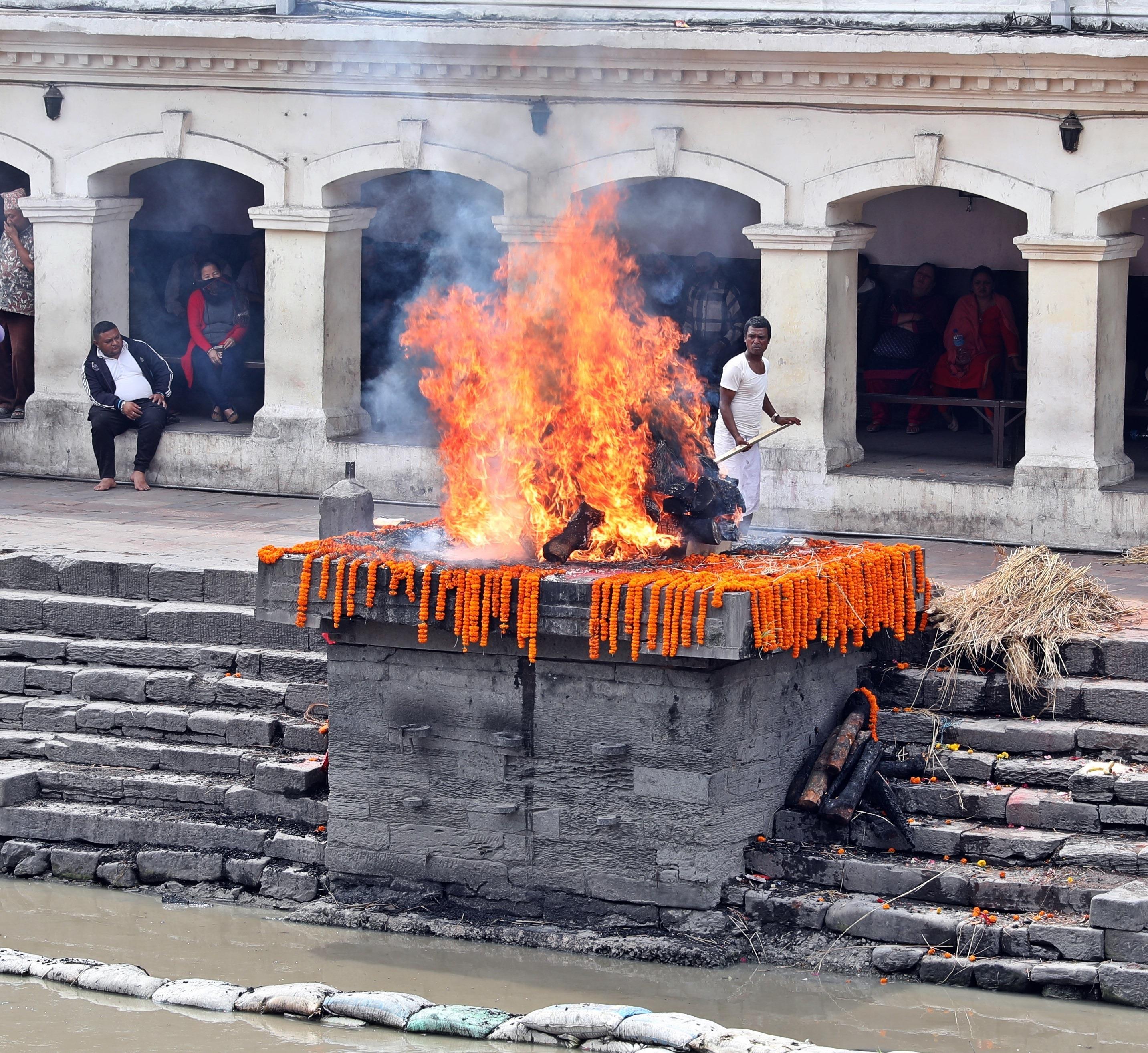 Cremation at Pashupatinath Temple, Kathmandu