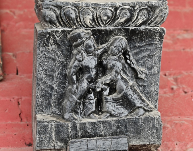 Erotic carvings on Bimsen Temple, Pokhara