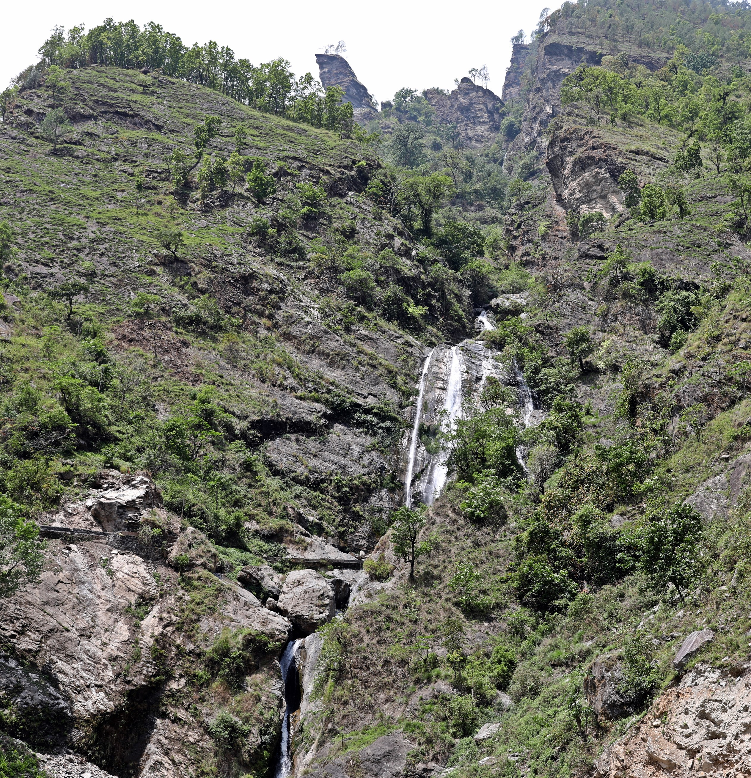 Waterfall on the Manaslu Circuit Trek