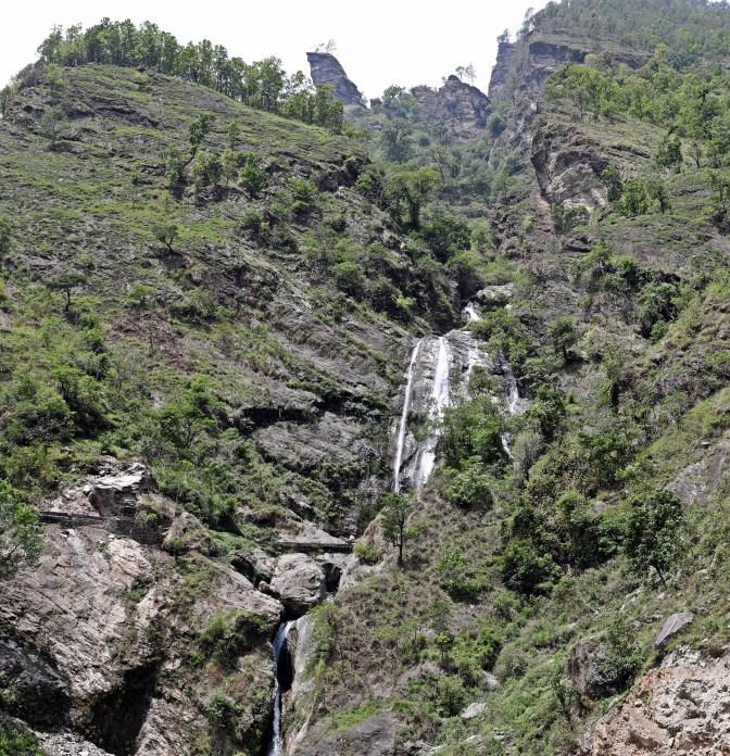 Waterfall on the Manaslu Circuit Trek