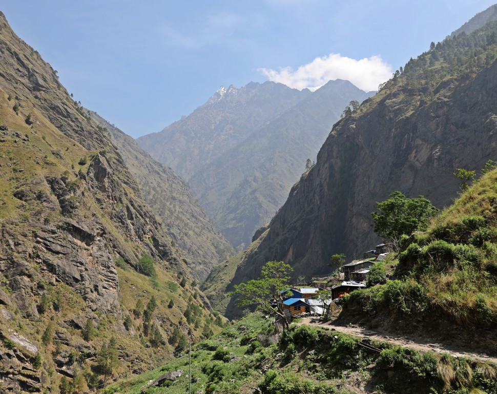 Village in the Buri Gandaki Valley