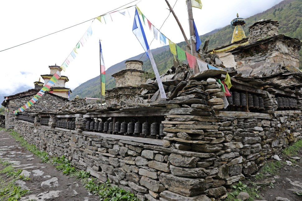 Mani wall in Samagoan