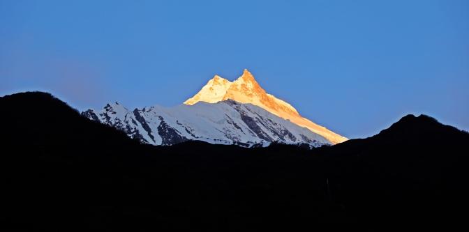 Mt Manaslu at sunrise