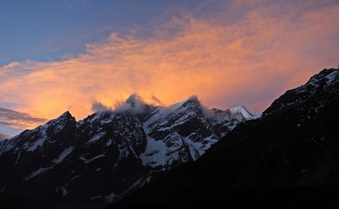Sunrise at Dharmasala