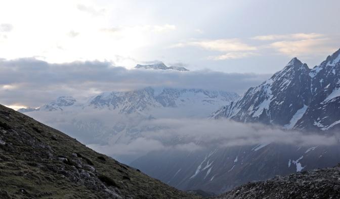 View from Larkya La (Pass)
