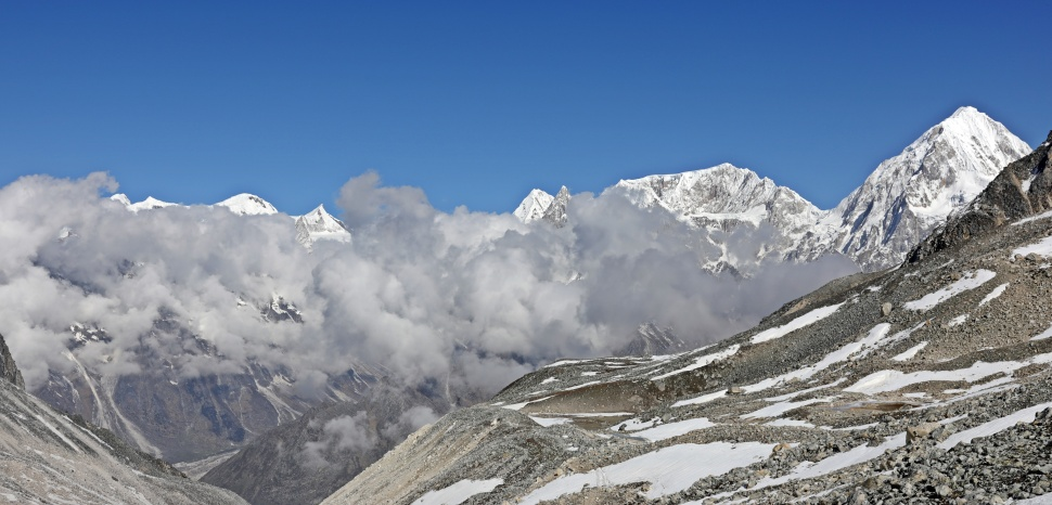 The Annapurna Range from Larkya La (Pass)